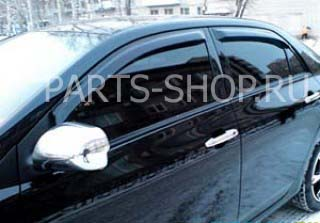 Ветровики на Corolla тёмные