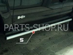 Пороги трубообразные 60 мм  на Hummer