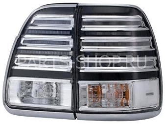 Фонари LX470 светодиодные тонированные 02-07 (хром окантовка)