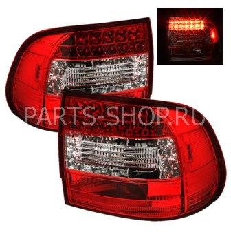 Светодиодные фонари красно-хромированные Porsche