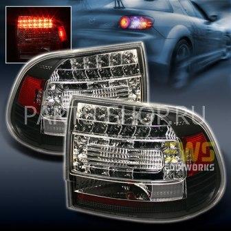 Светодиодные фонари черные Porsche Cayenne