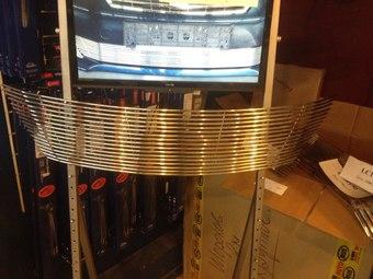 Решетка радиатора Lexus RX300/330/350/400 (полосы из нержавейки)