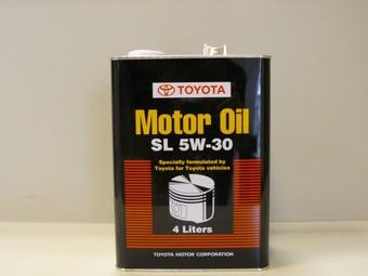 Toyota Motor Oil SL 5W30, 4L (минералка)