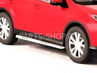 Пороги овальные 90x45 мм со вставками для ноги RAV4 2013