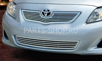 Решетки на Corolla (комплект) из нержавейки