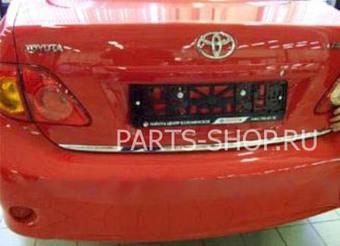 Хромированная накладка на багажник Corolla 01-06'