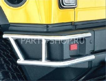 Защита заднего бампера двойная Hummer