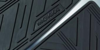 Резиновые коврики салона opel mokka