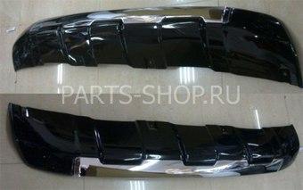 Накладка переднего бампера для LC150 Prado (черный, белый, серебро либо под покраску)