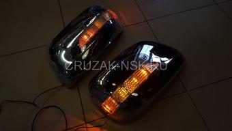 Корпуса на зеркала хромированные LX570 со светодиодными повторителями поворотов