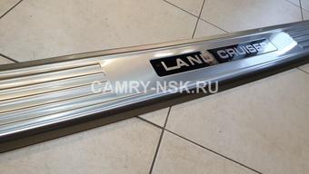 Накладка на задний бампер LC100, LX470 с логотипом