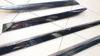 Молдинги дверей LX450d/LC200/LX570 стиль Black Vision, тёмный хром