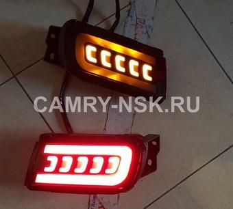 Задние стопы в бампер LC150 динамические (три режима работы)