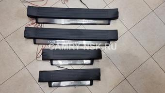 Внутрисалонные пороги с подсветкой LC150 (черные)