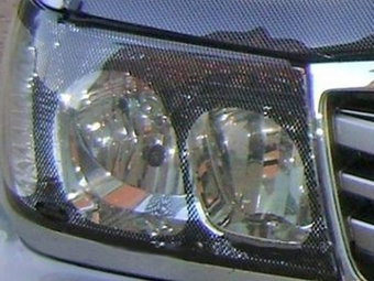 Защита фар карбон на LC100