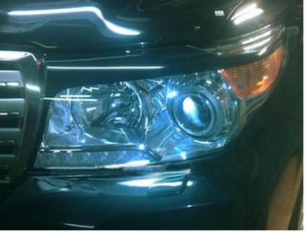 Защита фар прозрачная LC200 2014 (комплект)