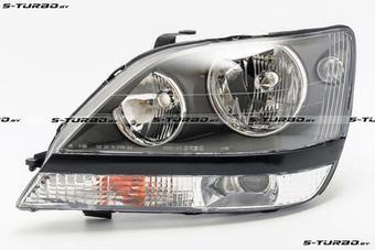 Оптика передняя Harrier евросвет черная (не под корр.)