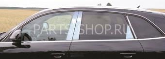 Молдинги дверных стоек Audi Q5(нерж., 8 частей)
