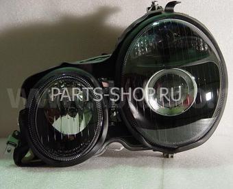 Фары линзовые черные Mercedes W-210 '99-02