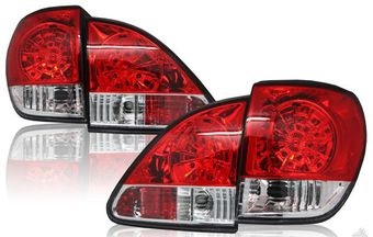 Оптика задняя красно-хромированная на RX300