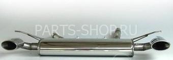Двойной спортивный глушитель на Audi Q7
