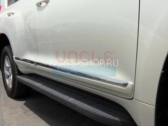 Молдинги боковые на двери LC150 (белые, черные, серебро либо под покраску)