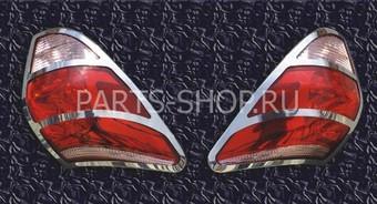 Окантовка на задние фонари на RAV4 05-09 (нерж.)