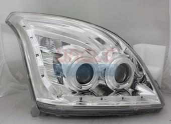 """Фары передние линзовые с диодной подсветкой LC120 """"Ангельские глазки"""""""
