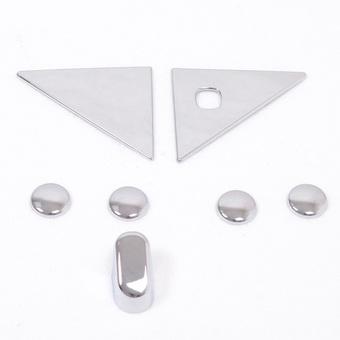 Хромированные накладки на пятую дверь LC Prado 150 (7 частей)