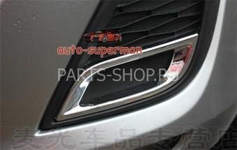 Накладки на противотуманные фары Mazda 3 2009-