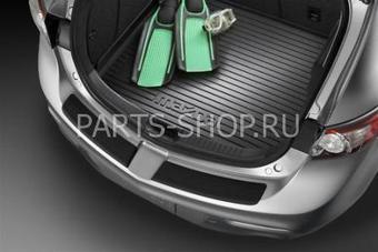 Накладки на задний бампер для Mazda 3(5Д) 2009-