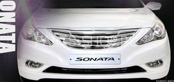 Решетка радиатора хром на Sonata