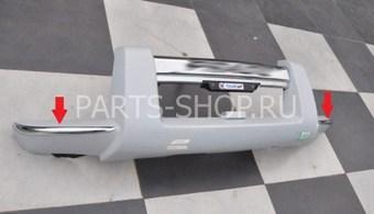 Хромированные накладки на защиту переднего бампера LC120