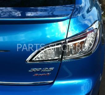 Накладки на задние фонари на Mazda 3 2009-
