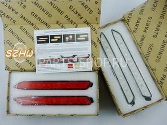 Задние противотуманные фонари диодные (красные, белые) на Camry 2011-/gx470/rx300