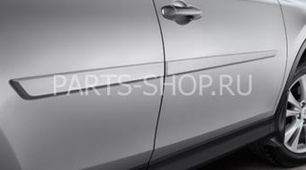 Молдинги боковых дверей для RAV4 2013 (в цвет кузова)