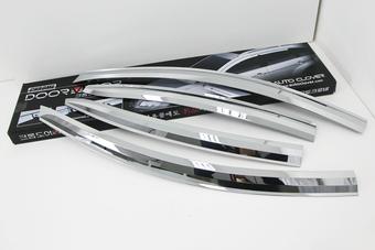 Ветровики окон Hyundai Accent 11-17 (тёмные или хром)