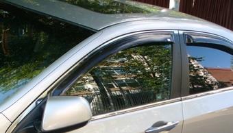 Ветровики Honda Accord темные 4 части