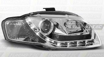 Фары хром со светодиодами Audi A4 B7 2005-2008