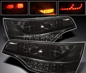 Фонари диодные на Audi Q7 тёмные