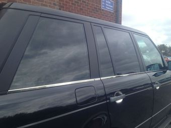 Молдинги стекол боковых дверей BMW E53 (6 частей)
