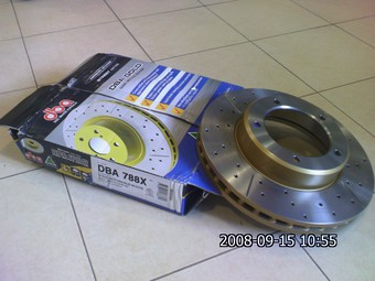 Диск тормозной для LX570 задний спортивный DBA LongLife GOLD.