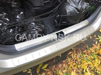 Защитные накладки на задний бампер и багажник Camry 2018