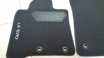 Коврики салона lx570 текстильные, черные