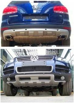 Накладка на передний и задний бампер Touareg 2010-