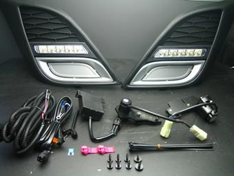 Дневные ходовые огни в бампер для Mazda 3 2009-
