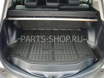 """Коврик багажника с """"ушами"""" для Toyota RAV4 2013 (черн., сер.)"""