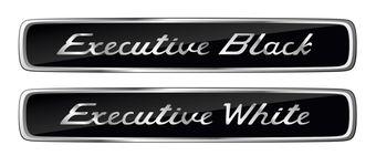 Эмблема Executive White and Black