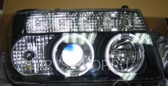 Оптика передняя линзовая на LC100 98-04 (чёрная)