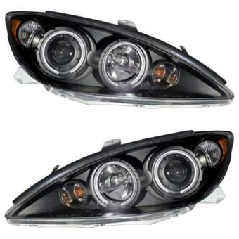 Фары чёрные светодиодные линзовые Camry ACV30